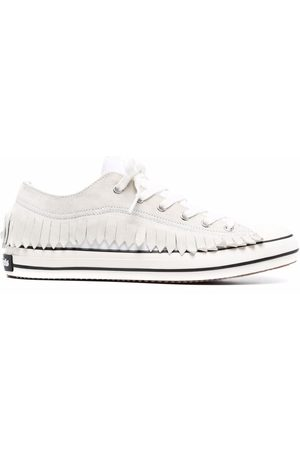 Palm Angels Fringe Basked low vulcanized sneakers