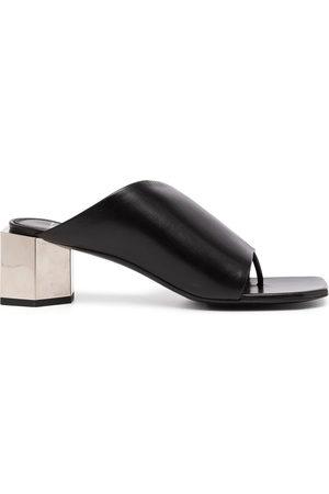 OFF-WHITE Hexnut chunky-heel 55mm mules