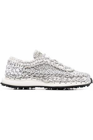VALENTINO GARAVANI Crochet-design low-top sneakers - Grey