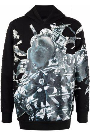 Philipp Plein Gorilla money print hoodie