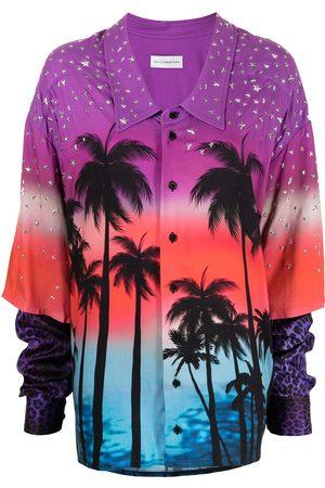 FAITH CONNEXION Oversize palm tree-print shirt - Multicolour