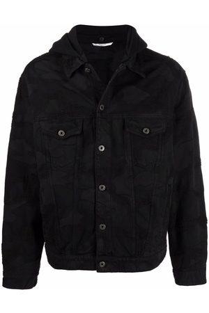 VALENTINO Men Denim Jackets - Detachable-hood denim jacket