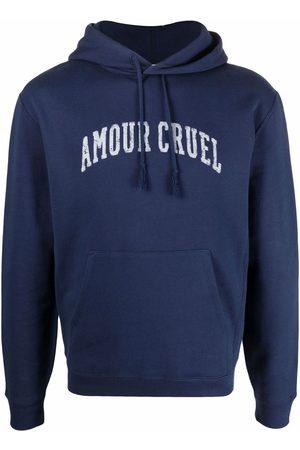 Saint Laurent Slogan-print drawstring hoodie
