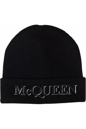 Alexander McQueen Embroidered-logo beanie