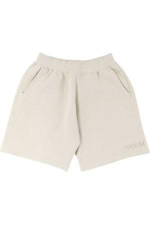 Stadium Goods Logo-embroidered eco track shorts - Neutrals
