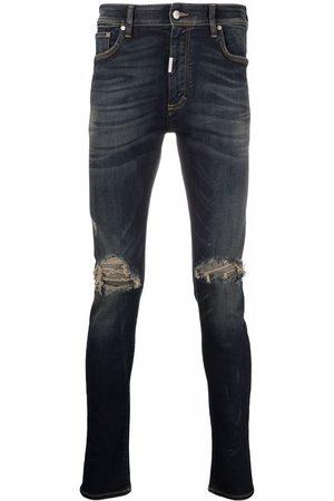 Represent Distressed skinny-fit jeans