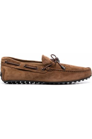 Tod's Men Loafers - Gommino suede driving shoes
