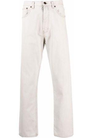 Saint Laurent Men Straight - Mid-rise straight-leg jeans - Neutrals