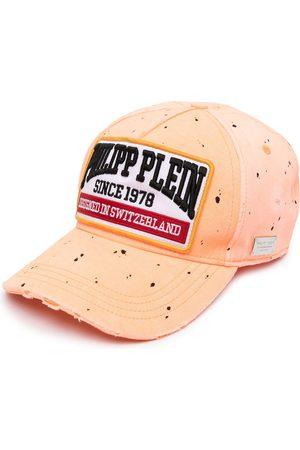Philipp Plein Men Caps - Paint splatter logo baseball cap