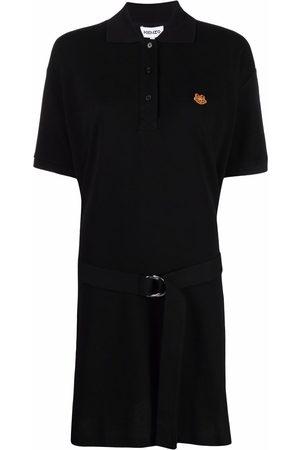 Kenzo Appliqué motif polo mini dress