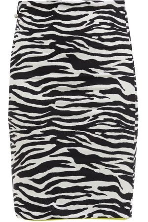 The Attico Women Mini Skirts - Zebra-striped Jersey Mini Skirt - Womens