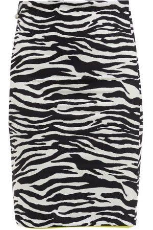 The Attico Zebra-striped Jersey Mini Skirt - Womens