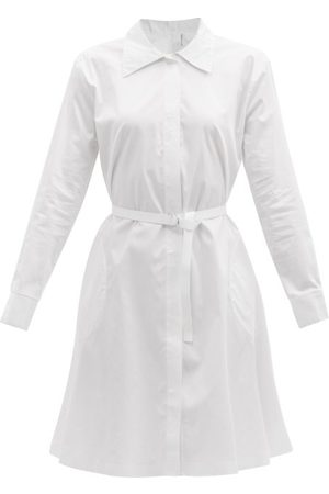Women Casual Dresses - Norma Kamali - Boyfriend Cotton-poplin Shirt Dress - Womens