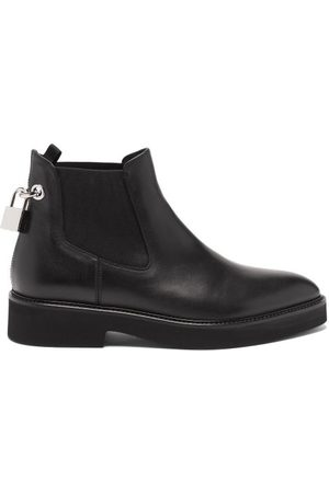 Christopher Kane Padlock Leather Chelsea Boots - Womens