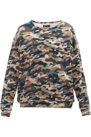 The Upside Women Sweatshirts - Alena Himalaya Camouflage-print Cotton Sweatshirt - Womens - Camouflage