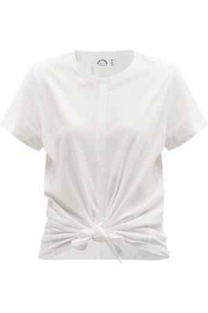 The Upside Women Short Sleeve - Knotted Cotton-jersey T-shirt - Womens