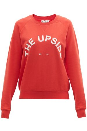 The Upside Women Sweatshirts - Bondi Logo-print Cotton-jersey Sweatshirt - Womens