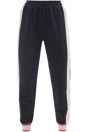The Upside Women Sweatpants - Scandi Major Striped Jersey Track Pants - Womens - Navy