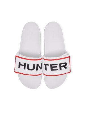 Hunter Men Sandals - Men's Original Terry Towelling Logo Adjustable Slides