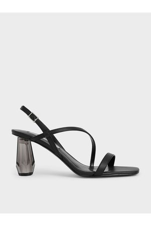 CHARLES & KEITH See-Through Sculptural Heel Sandals