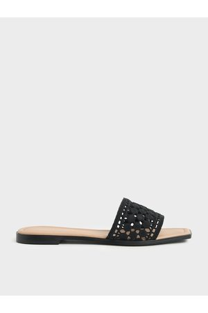 CHARLES & KEITH Asymmetric Toe Crochet Slides