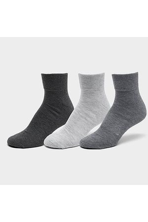 Sof Sole Men's Sonneti Quarter Socks (6-Pack) in Grey/Grey Size Large Knit/Fiber