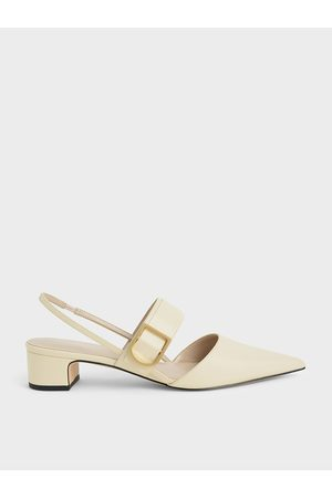 CHARLES & KEITH Buckle Slingback Pumps