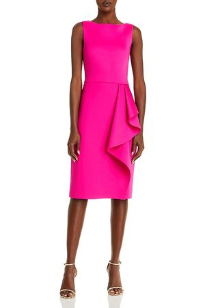 Eliza J Sleeveless Side Tuck Ruffle Dress