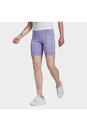 adidas Women's Originals Adicolor Sliced Trefoil Short Tights in /Light Size Small Polyester