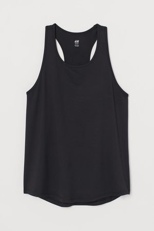 H&M Mesh-detail Sports Top