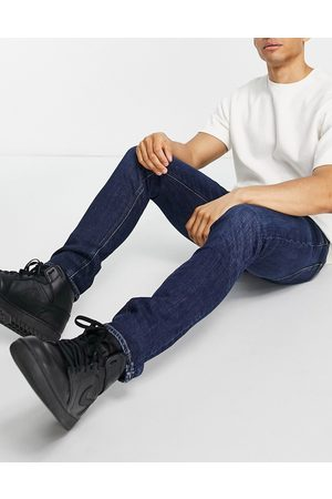 Lee Luke skinny fit jeans in worn foam-Blues