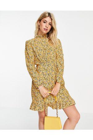 Nobody's Child High neck mini tea dress in floral