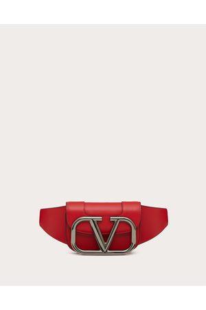 VALENTINO GARAVANI Men Bags - Supervee Leather Belt Bag Man Rouge Pur 100% Pelle Bovina - Bos Taurus OneSize