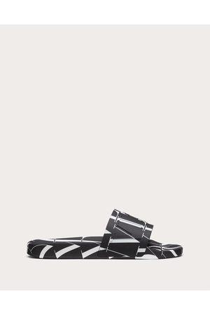 VALENTINO GARAVANI Vltn Times Rubber Slide Sandal Man / Plastic Material 100% 42