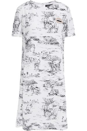Markus Lupfer Woman Crystal And Sequin-embellished Printed Crepe Mini Dress Size 10