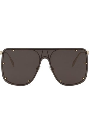 Alexander McQueen Glasses square frame thin temples
