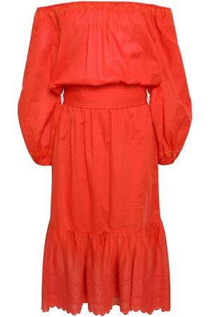 Vanessa Bruno Woman Off-the-shoulder Broderie Anglaise Cotton Dress Bright Size 34