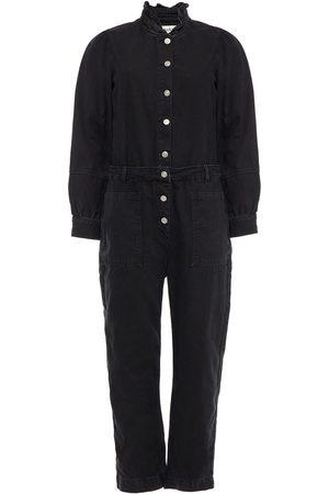 Bash Woman Valentine Ruffle-trimmed Denim Jumpsuit Size 3