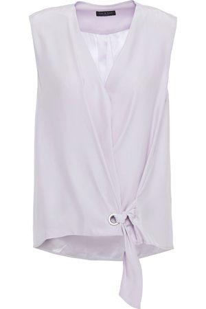 RAG&BONE Woman Felix Silk Wrap Top Lilac Size M