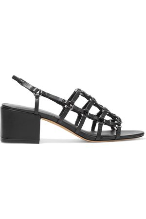 3.1 Phillip Lim Woman Cube Caged Leather Slingback Sandals Size 36