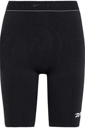 Reebok Woman Logo-appliquéd Stretch Shorts Size L
