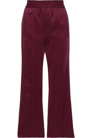 Marc Jacobs Woman Striped Satin-crepe Track Pants Burgundy Size 2