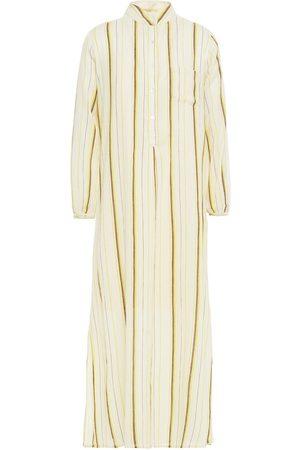 Antik Batik Woman Antonia Striped Cotton-gauze Midi Dress Ecru Size 36