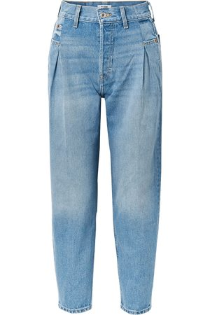 RE/DONE Woman 40s Zoot Pleated High-rise Tapered Jeans Light Denim Size 26