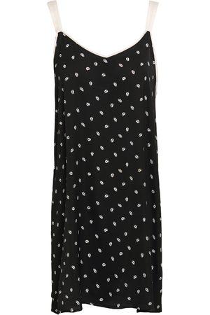 DKNY Woman Printed Crepe De Chine Nightdress Size XL