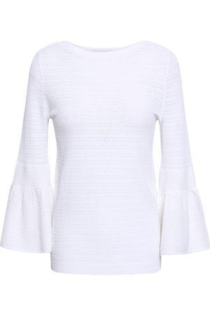 AUTUMN CASHMERE Woman Fluted Pointelle-knit Top Size S