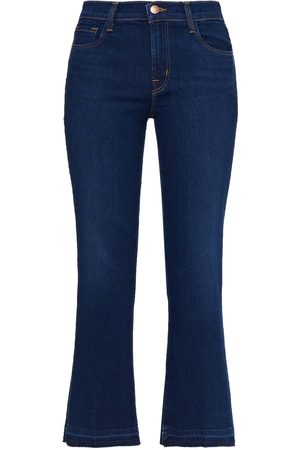 J Brand Woman Selena Mid-rise Kick-flare Jeans Dark Denim Size 24