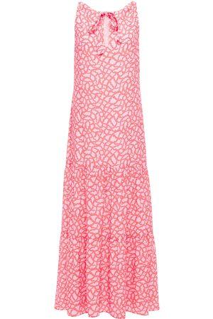 Charli Woman Ida Printed Crepe Maxi Dress Coral Size 10