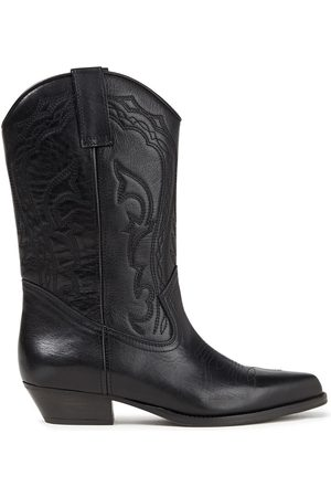 Bash Woman Cruz Embroidered Leather Boots Size 36