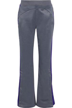 adidas Woman Printed Two-tone Fleece Track Pants Size L